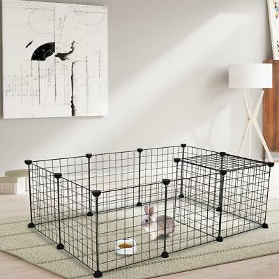 12 x metal panels dog playpen crate