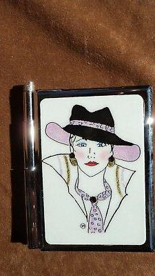 Personalized Expressions 1507 Pink Hat Women's Note Pad W/Pe
