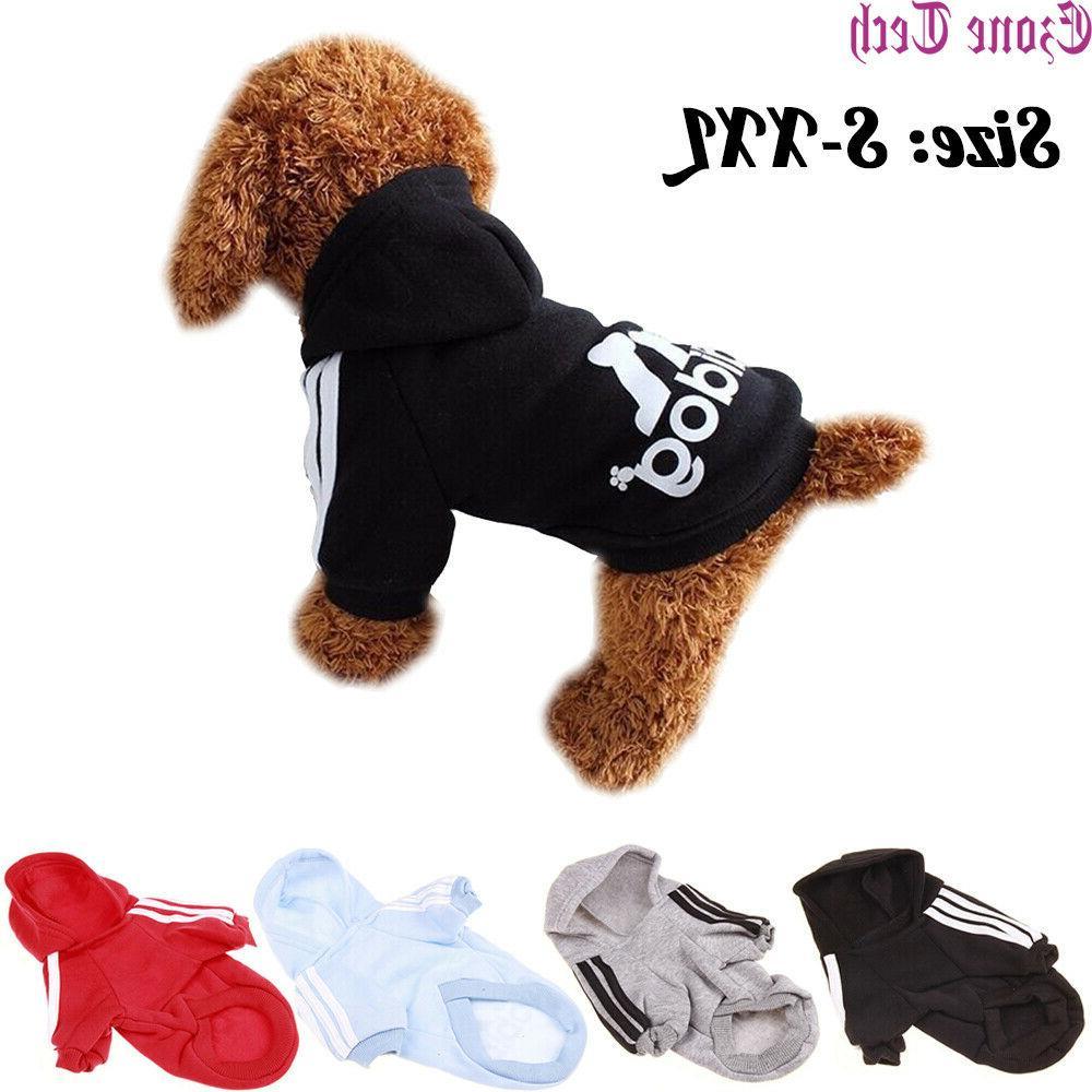 2 leg pet dog clothes hoodie winter