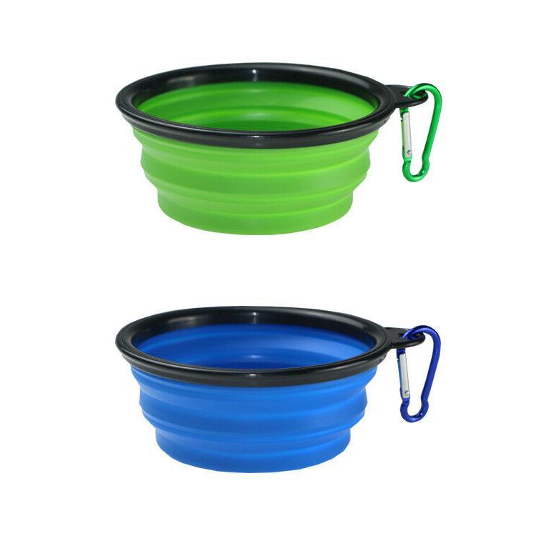2 Portable Pet/Dog Bowls oz