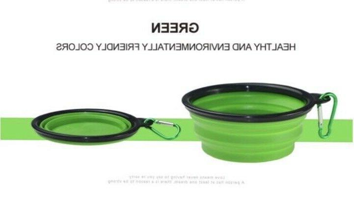 2 Portable Pet/Dog Bowls 1 cup oz water