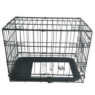 """20"""" Pet Cat Crate Playpen Wire Metal Cage Tray"""