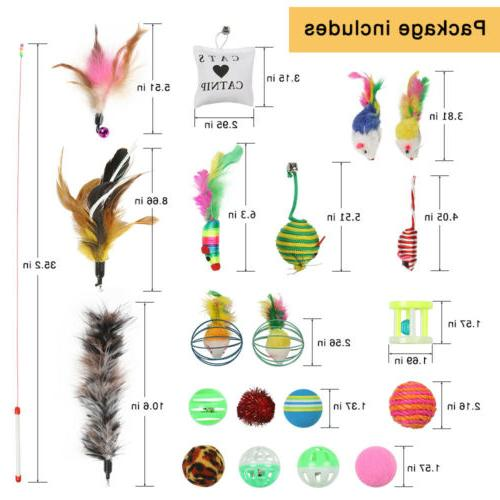 20pcs pet cat toys set bulk mice