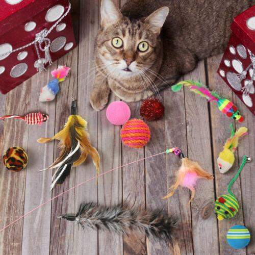20Pcs Pet Cat Set Bulk Mice Balls Pet Ball Toy