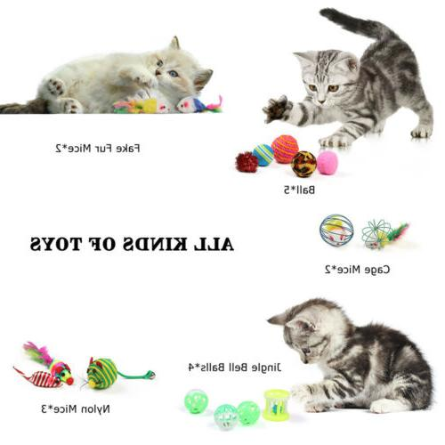 20Pcs Pet Set Mice Pet Kitten Ball