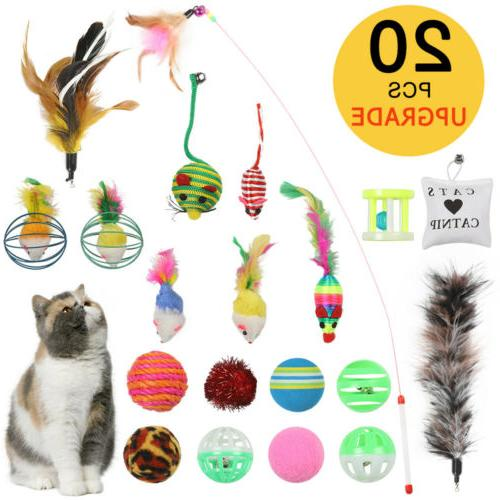 20Pcs Pet Cat Set Bulk Balls Pet Kitty Kitten Play Ball Set