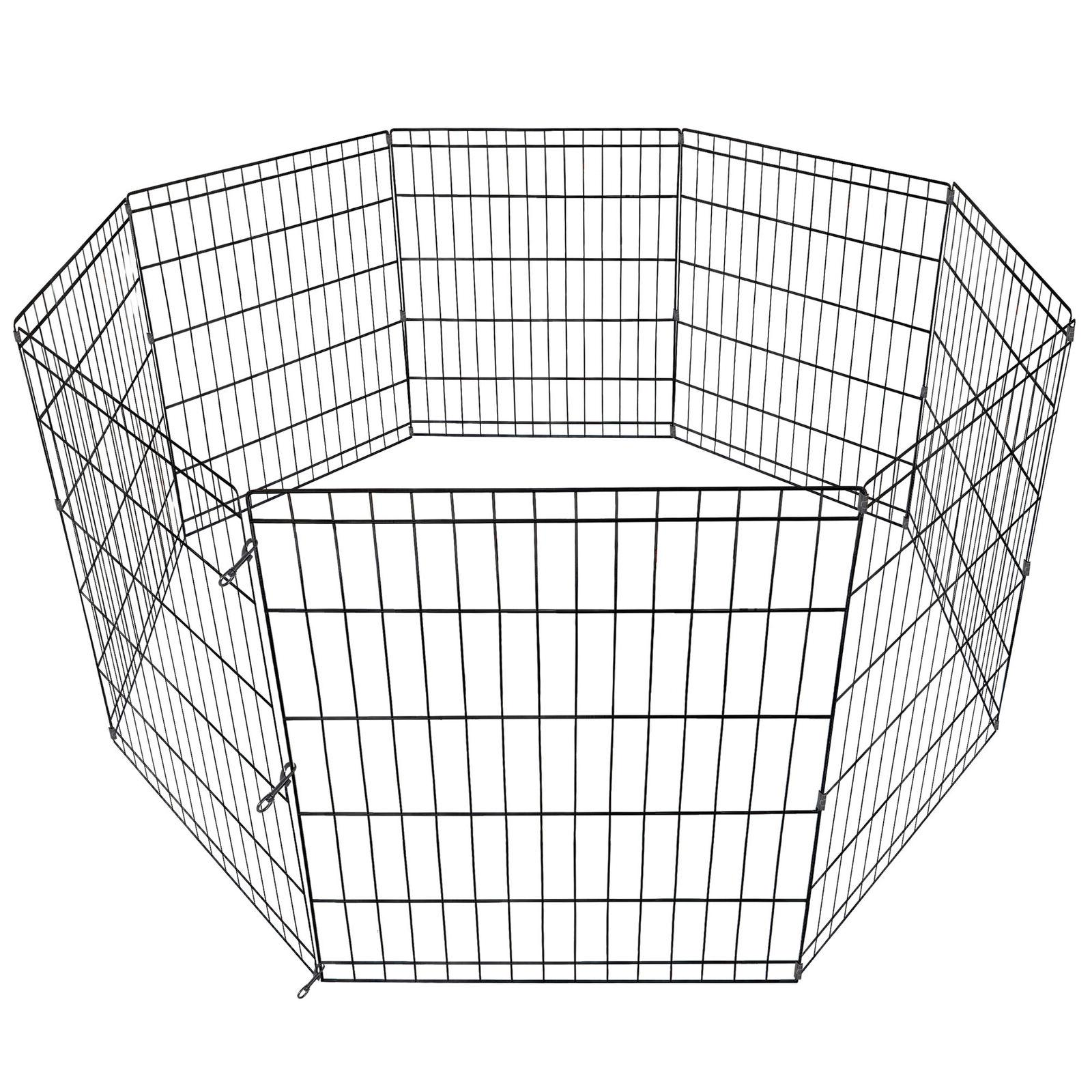 """24"""" 8 Panel Fence Pet Play Pen Puppy Kennel Yard"""