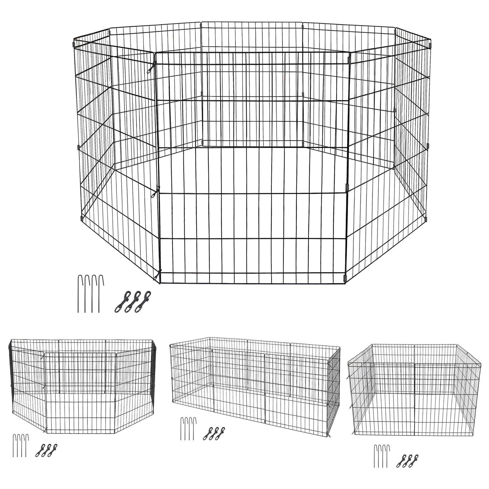 """24"""" 8 Panel Play Exercise Puppy Kennel"""