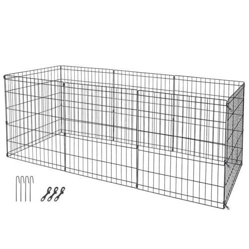 30 Inch 8 Crate Fence Pen Exercise