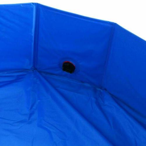 47'' Pet Swimming Pool Pool Bathing Tub Foldable