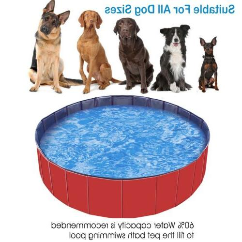 """48"""" 63"""" Bath Collapsible Pool Pet For Dog Cat"""