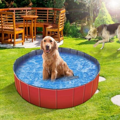 """48"""" Foldable Bath Pool Collapsible For Dog Cat"""