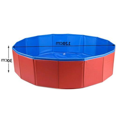 "48""63"" Foldable Pet Swimming Pool Dog Pool Collapsible Bathing Kid"