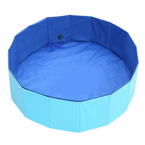 "48""63"" Foldable Pet Pool Dog Collapsible Pool Kid"