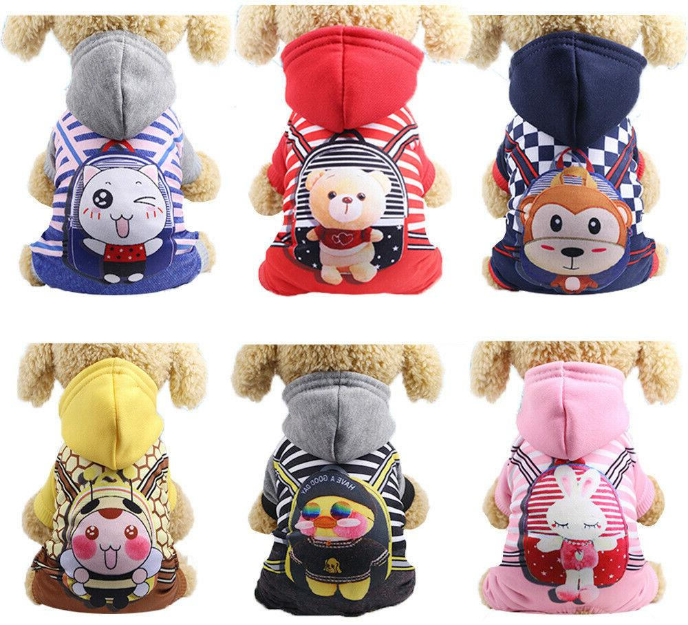 4Legs Pet Dog Clothes Cat Puppy Coat Winter Hoodies Warm Swe