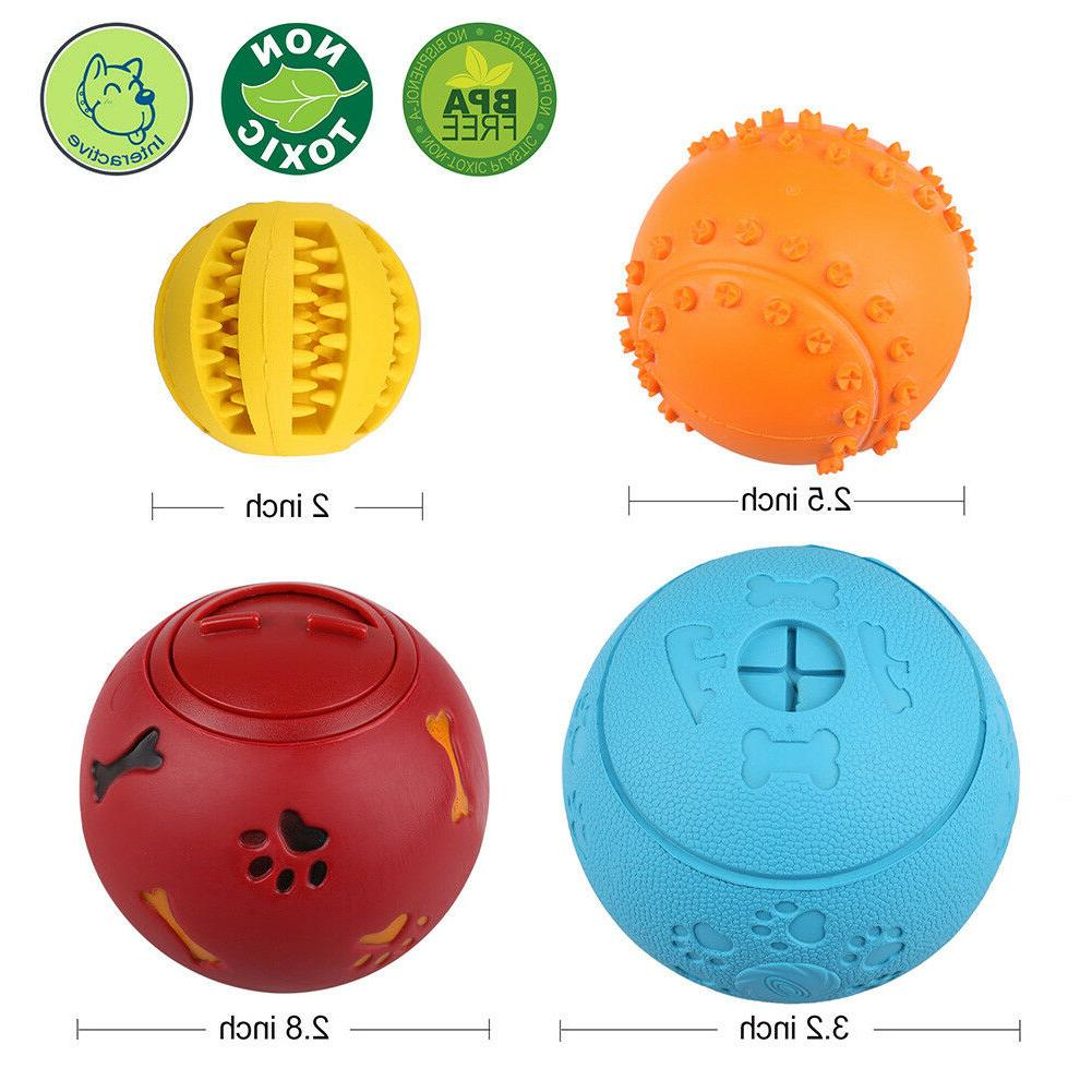 4pcs Pet Dog Interactive Tumbler Food Dispenser Feeder IQ Puzzle Ball Toys