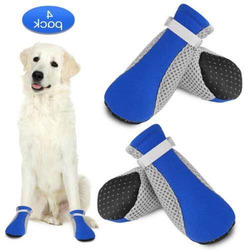 4pcs Warm Dog Puppy Shoes Protective