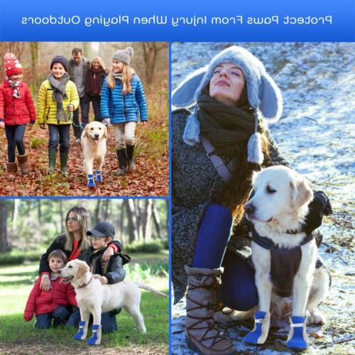 4pcs Dog Protective Socks