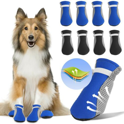 4pcs warm winter pet dog boots puppy