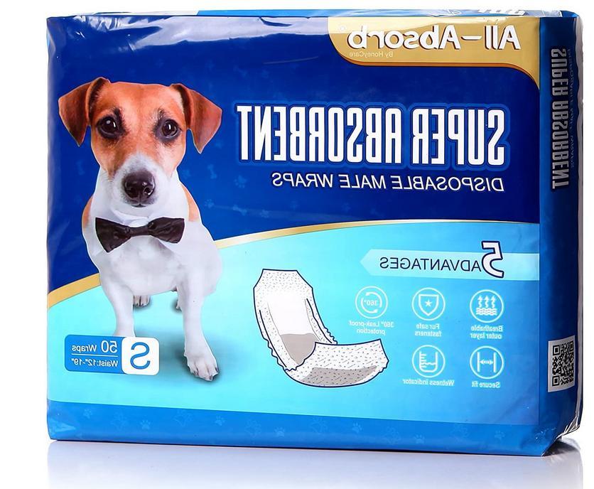 50 Pack Dog Belly Bands Soft