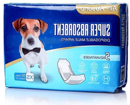 50 pack waist disposable dog diapers male