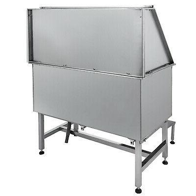 50'' Grooming Bath Bathtub Steel Wash Station Shower Salon