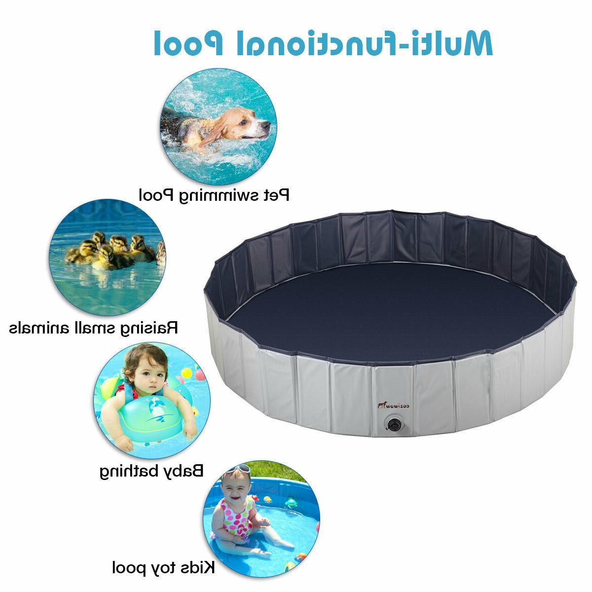"63"" Pet Pool Foldable Kids Swimming"
