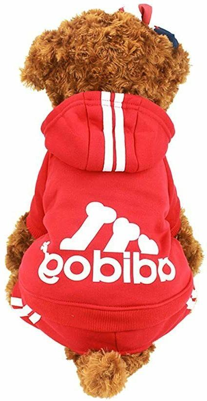 adidog small dogs puppy apparel hoodie sweater