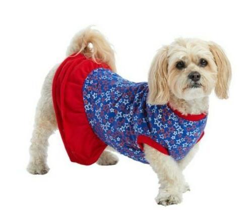 americana stars pet dress large