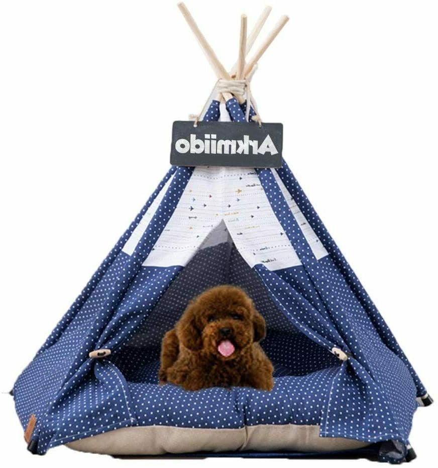 arkmiido pet teepee dog and cat bed