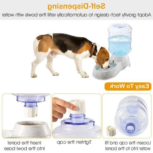 Automatic Water Gallon Dispenser Dog Drinking Fountain Large