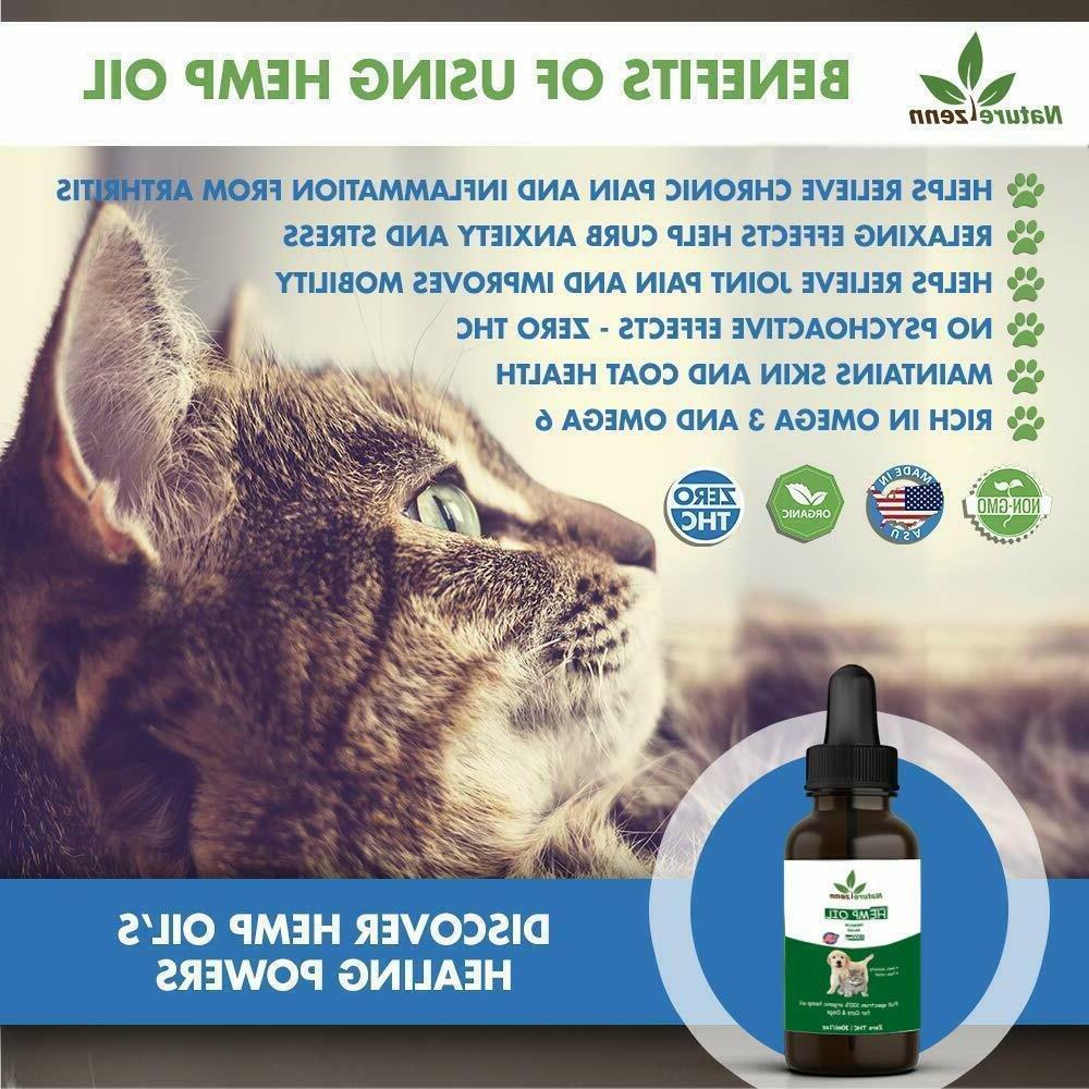 Beef Flavor -Hemp for Dogs Cats Pets - Calming Organic