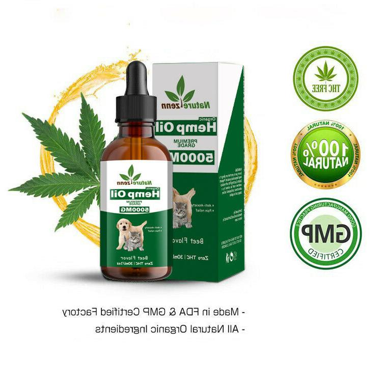 beef flavor hemp oil for dogs cats