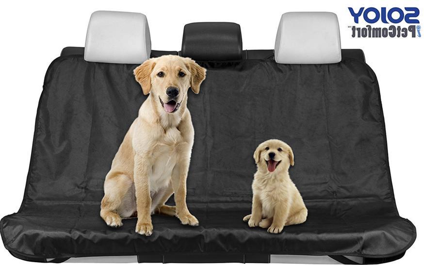 black waterproof pet dog cat seat cover