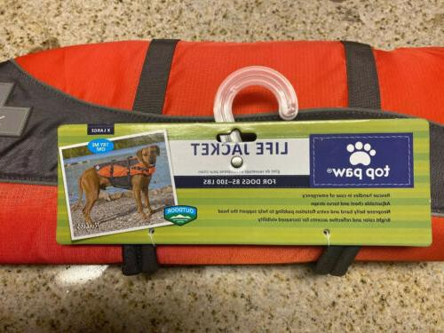 brand new pet smart dog life jacket