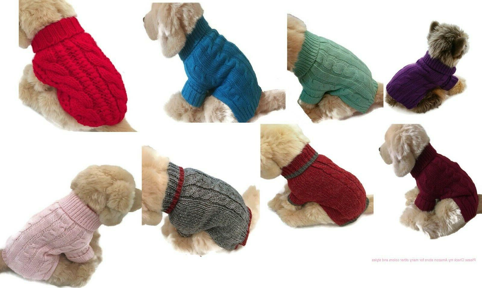 brand small dog sweater puppy clothing pet