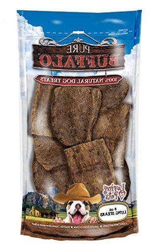 buffalo lung steaks dog treat