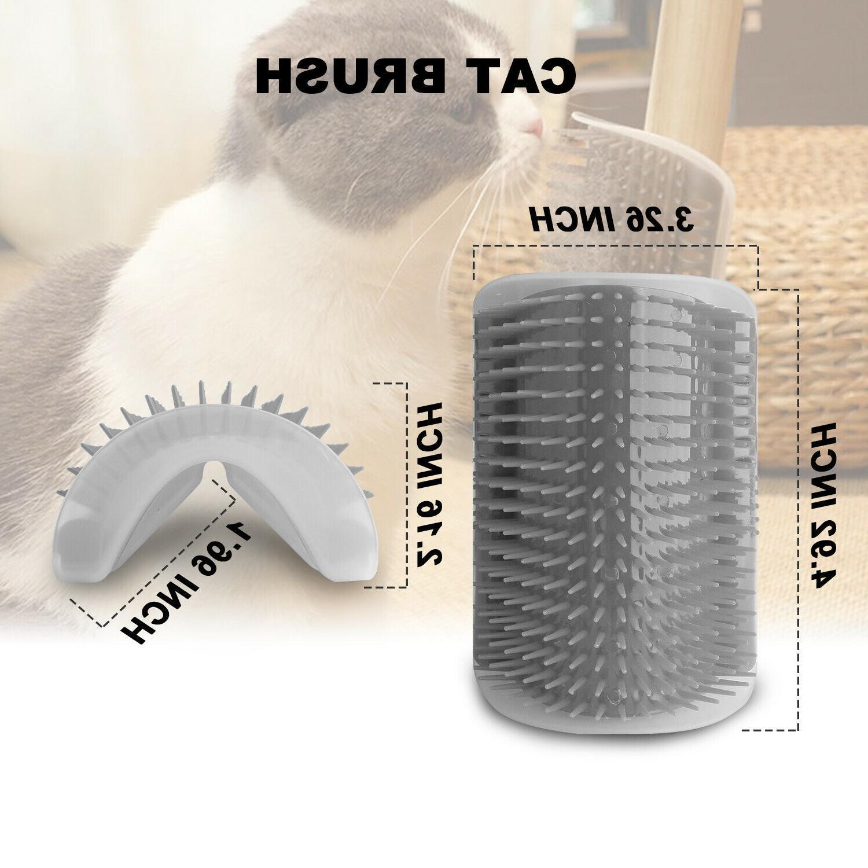 Cat Pet Groomer Brush Wall Massage Catnip