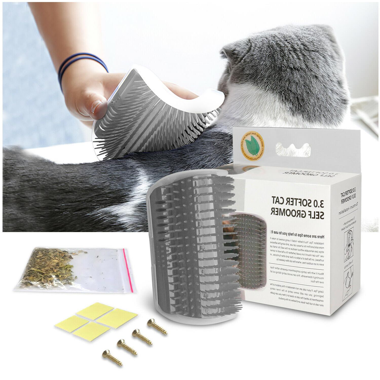 Cat Pet Groomer Brush Massage Comb Catnip