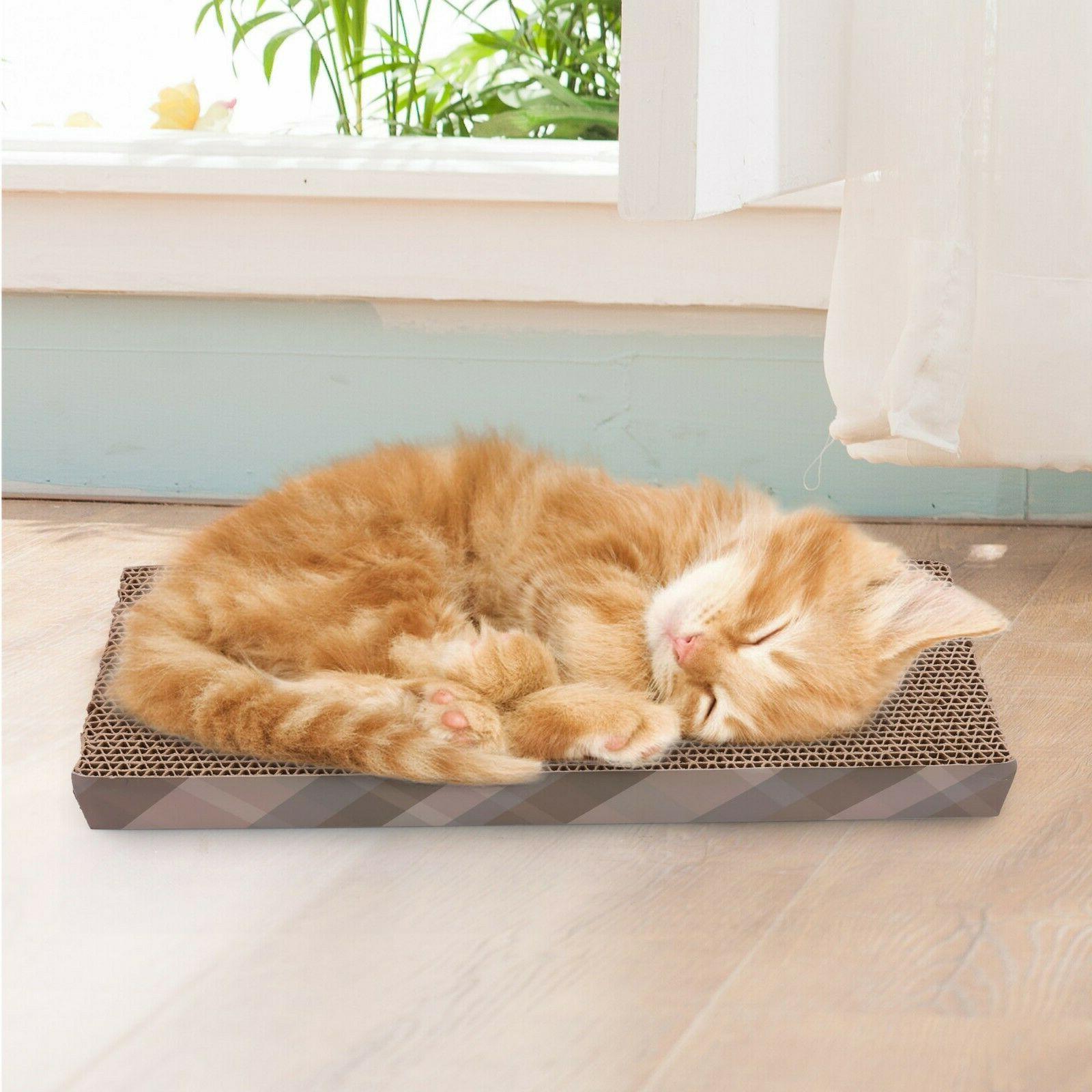Cat Scratch Pad Post Scratcher Bed