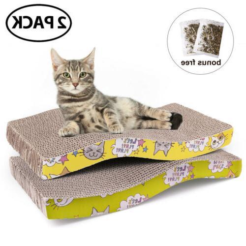 Cat Scratch Pad Scratching Post Board Lounge Kitty Scratcher