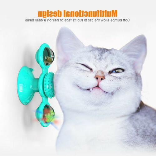 cat turning windmill turntable tickle cat toy