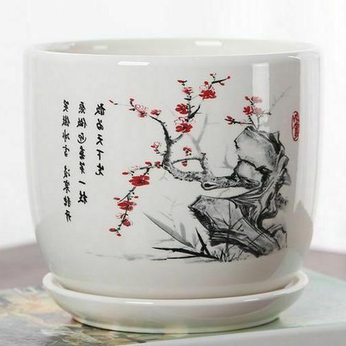 ceramic flower glazed pot indoor succulent bonsai
