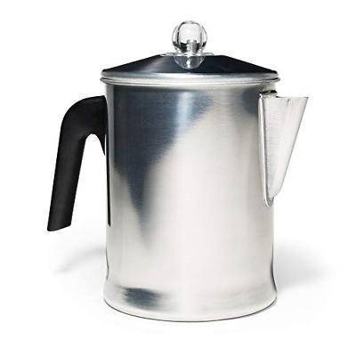coffee percolator camping stove top pot aluminium