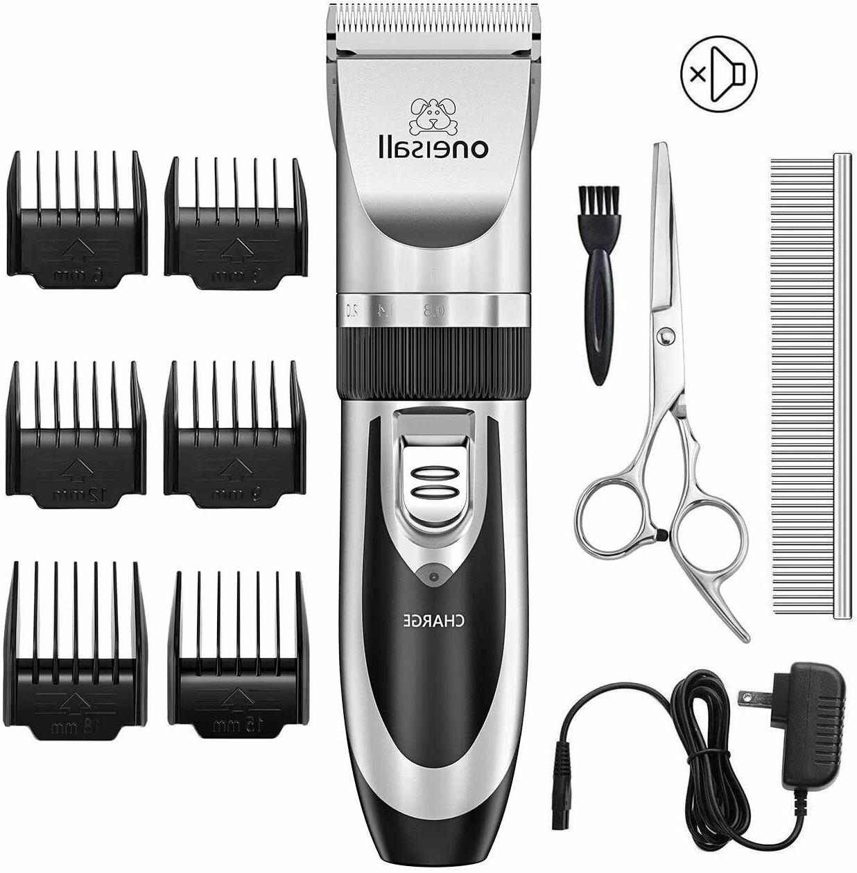 cordless electric quiet hair clippers set