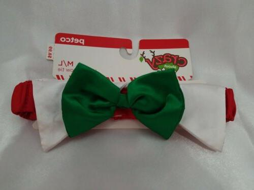 crazy about pets holiday bowtie size m