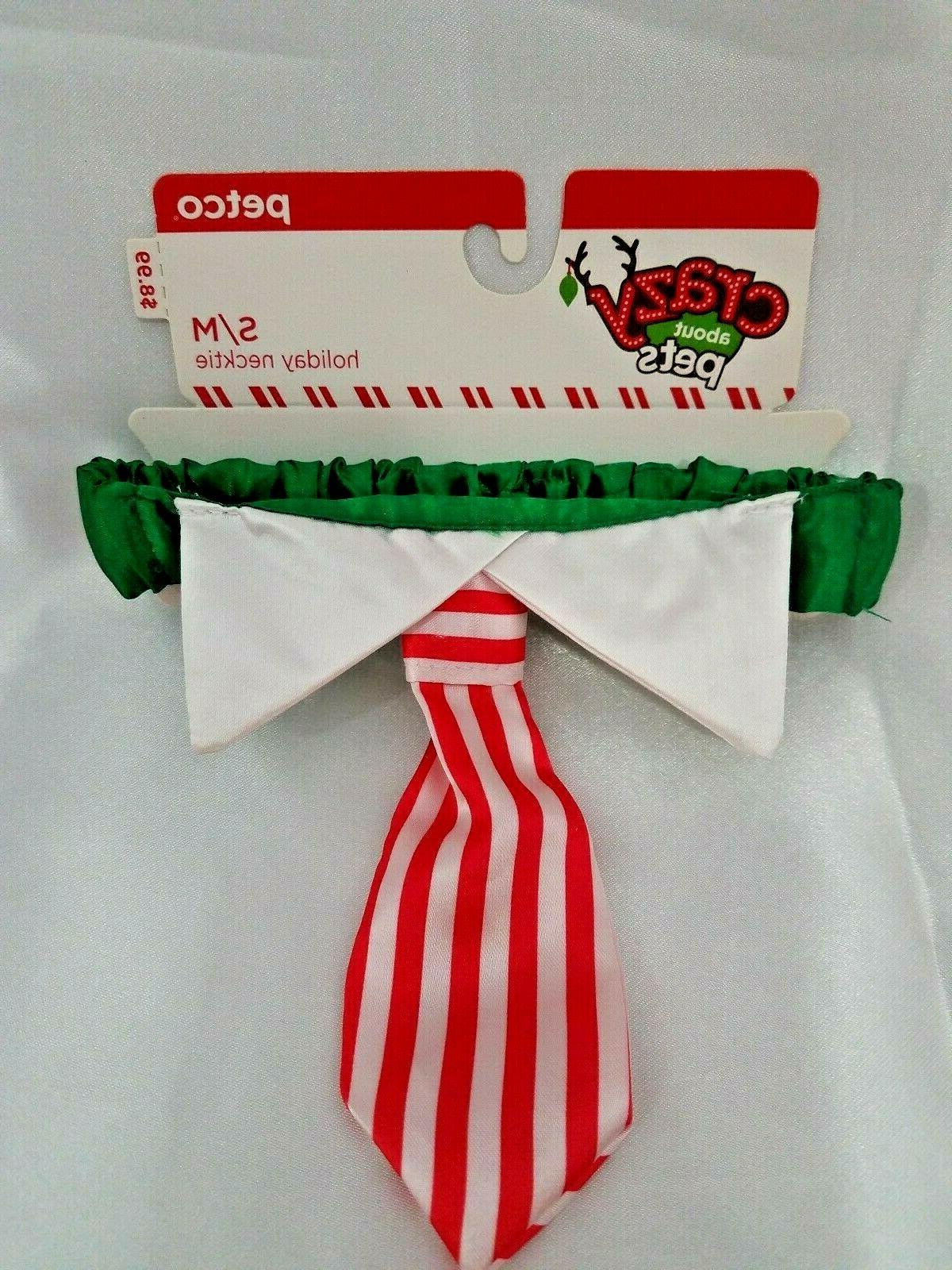 crazy about pets holiday necktie size small