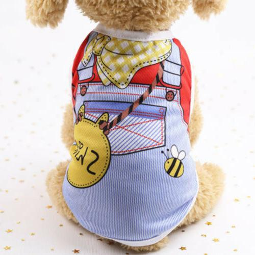 Cute Pet Cat Clothes Puppy Shirt Dogs Chihuahua Vest