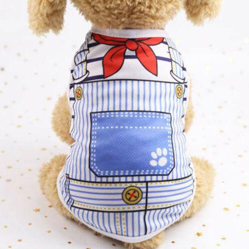 Cute Pet Dog Cat Clothes Shirt Clothing Dogs Chihuahua