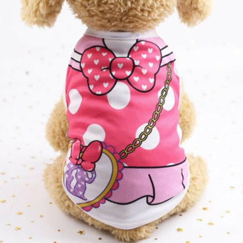 Cute Cat Clothes Shirt Clothing Small Dogs Chihuahua Vest